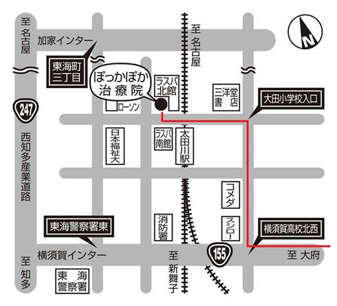 大府方面のアクセスマップ