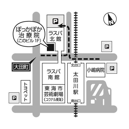 周辺駐車場のアクセスマップ