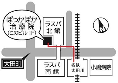最寄り駅からのアクセスマップ